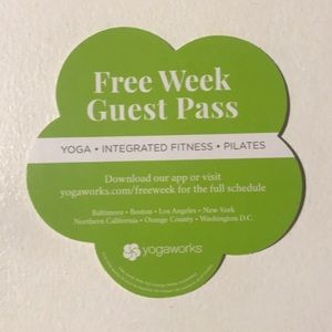 YogaWorks Free Week Pass! never Expires